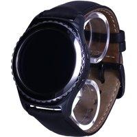 Samsung Gear S2 classic 30,2 mm zwart met leren bandje zwart [wifi]