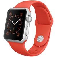 Apple Watch Sport 38 mm zilver met sportbandje oranje [wifi]