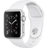 Apple Watch Series 1 38mm Caja de aluminio en plata con correa deportiva blanca [Wifi]