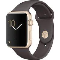 Apple Watch Series 1 42mm Caja de aluminio en oro con correa deportiva cacao [Wifi]