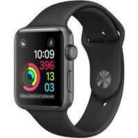 Apple Watch Series 2 42 mm spacegrijs aluminium met sportarmband zwart [wifi]