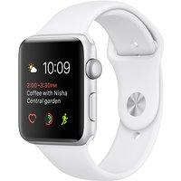 Apple Watch Series 2 42mm Caja de aluminio en plata con correa deportiva blanca [Wifi]