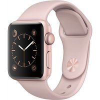 Apple Watch Series 2 38 mm roségoud aluminium met sportarmband rozenkwarts [wifi]