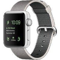 Apple Watch Series 2 38mm Caja de aluminio en plata con correa de nailon trenzado gris [Wifi]