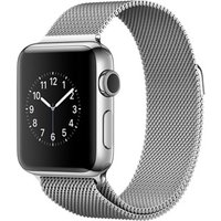 Apple Watch Series 2 38 mm zilver aluminium met Milanees bandje zilver [wifi]