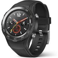 Huawei Watch 2 45 mm met zwarte sportband [wifi + 4G] zwart