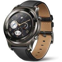 Huawei Watch 2 Classic 45 mm met grijze sportband [wifi] zwart