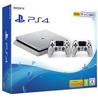 Sony PlayStation 4 slim 500 GB [incluye 2 mandos inalámbricos] plata