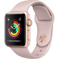 Apple Watch Series 3 38 mm aluminium goud met sportarmband roze [wifi]