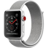 Apple Watch Series 3 42 mm aluminium zilver met geweven sportbandje grijs [wifi + cellular]