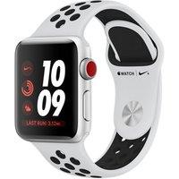 Apple Watch Nike+ Series 3 38 mm aluminium zilver met Nike sportarmband witzwart [wifi + cellular]