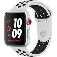 Apple Watch Nike+ Series 3 42 mm aluminium zilver met Nike sportarmband witzwart [wifi + cellular]