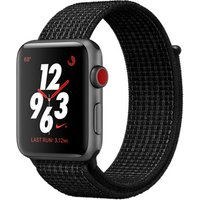 Apple Watch Nike+ Series 3 42 mm aluminium spacegrijs met geweven Nike sportbandje zwart [wifi + cellular]