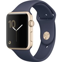 Apple Watch Series 2 42 mm aluminium goud met sportarmband [wifi] blauw