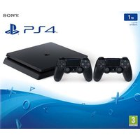 Sony Playstation 4 slim 1 TB [incl. 2 draadloze controllers] zwart