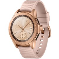 Samsung Galaxy Watch 42 mm goud met siliconenarmband [wifi] roze