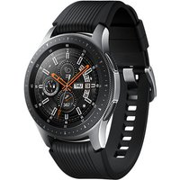 Samsung Galaxy Watch 46 mm zilver met siliconenarmband [wifi] zwart