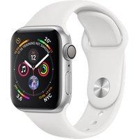 Apple Watch Series 4 40mm caja de aluminio en plata y correa deportiva blanca [Wifi]