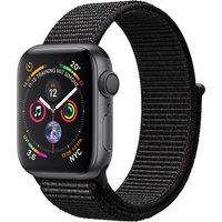 Apple Watch Series 4 40mm caja de aluminio en gris espacial y correa Loop deportiva negra [Wifi]