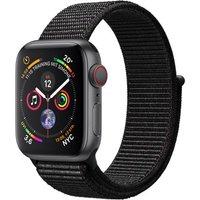 Apple Watch Series 4 40mm caja de aluminio en gris espacial y correa Loop deportiva negra [Wifi + Cellular]
