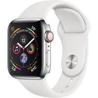 Apple Watch Series 4 40mm caja de acero inoxidable en plata y correa deportiva blanca [Wifi + Cellular]