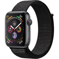 Apple Watch Series 4 44 mm aluminium spacegrijs met geweven sportbandje [wifi] zwart