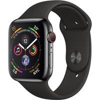 Apple Watch Series 4 44mm caja de acero inoxidable en negro espacial y correa deportiva negra [Wifi + Cellular]