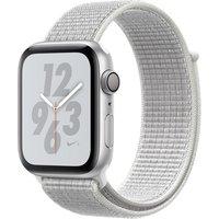 Apple Watch Nike+ Series 4 44mm caja de aluminio en plata y correa Loop Nike Sport blanco polar [Wifi]