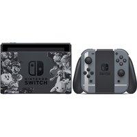 Nintendo Switch 32 GB [Super Smash Bros. ultimate edition incl. controller grijs, zonder spel] zwart