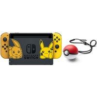 Nintendo Switch 32 GB [Pokémon Let's Go Pikachu/Evoli edition incl. controller goud en Pokéball Plus, zonder spel] zwart