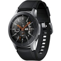 Samsung Galaxy Watch 46 mm zilver met siliconenarmband [wifi + 4G] zwart
