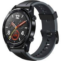 Huawei Watch GT 46,5 mm zwart met siliconenarmband zwart