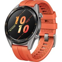 Huawei Watch GT 46,5 mm grijs met siliconenarmband oranje [active edition]