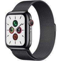 Apple Watch Series 5 44 mm Caja de acero inoxidable negro espacial Pulsera Milanese Loop negra espacial [Wifi + Cellular]