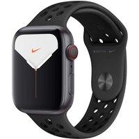 Apple Watch Nike+ Series 5 44 mm Aluminiumgehäuse space grau am Nike Sportarmband anthrazit/schwarz [Wi-Fi + Cellular]