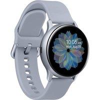 Samsung Galaxy Watch Active2 44 mm Aluminiumgehäuse silber am Sportarmband silver [Wi-Fi]