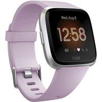 Fitbit Versa Lite 34mm aluminium plata con correa de silicona rosa [Wifi]