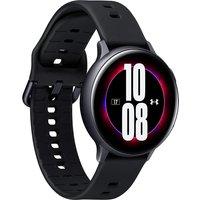 Samsung Galaxy Watch Active2 44 mm Aluminiumgehäuse schwarz am Sportarmband black [Wi-Fi, Under Armour Edition]