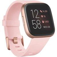 Fitbit Versa 2 40 mm aluminio color rosa cobrizo con correa de silicona rosa pétalo [Wifi]