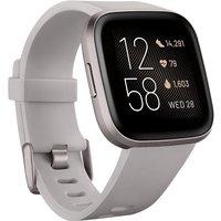 Fitbit Versa 2 40 mm aluminio gris niebla con correa de silicona gris piedra [Wifi]