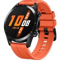 Huawei Watch GT 2 46 mm negro con correa de silicona naranja
