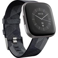 Fitbit Versa 2 40 mm aluminium nebelgrau am Gewebearmband rauchgrau [Wi-Fi]