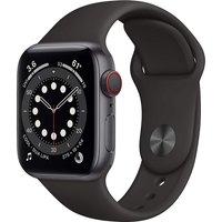 Apple Watch Series 6 40 mm Caja de aluminio en gris espacial - Correa deportiva negra [Wifi + Cellular]