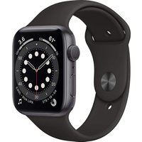 Apple Watch Series 6 44 mm Caja de aluminio en gris espacial - Correa deportiva negra [Wifi]