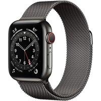 Apple Watch Series 6 40 mm Caja de acero inoxidable en grafito - Pulsera Milanese Loop grafito [Wifi + Cellular]