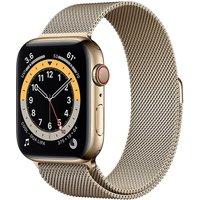 Apple Watch Series 6 44 mm Caja de acero inoxidable en oro - Pulsera Milanese Loop oro [Wifi + Cellular]