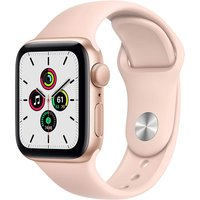 Apple Watch SE 40 mm Caja de aluminio en oro - Correa deportiva rosa arena [Wifi]