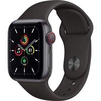 Apple Watch SE 40 mm Caja de aluminio en gris espacial - Correa deportiva negra [Wifi + Cellular]