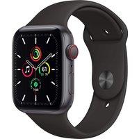 Apple Watch SE 44 mm Caja de aluminio en gris espacial - Correa deportiva negra [Wifi + Cellular]