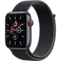 Apple Watch SE 44 mm Caja de aluminio en gris espacial - Correa Loop deportiva carbón [Wifi + Cellular]